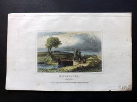 Dugdale C1840 Hand Col Print. Winchester, Hampshire
